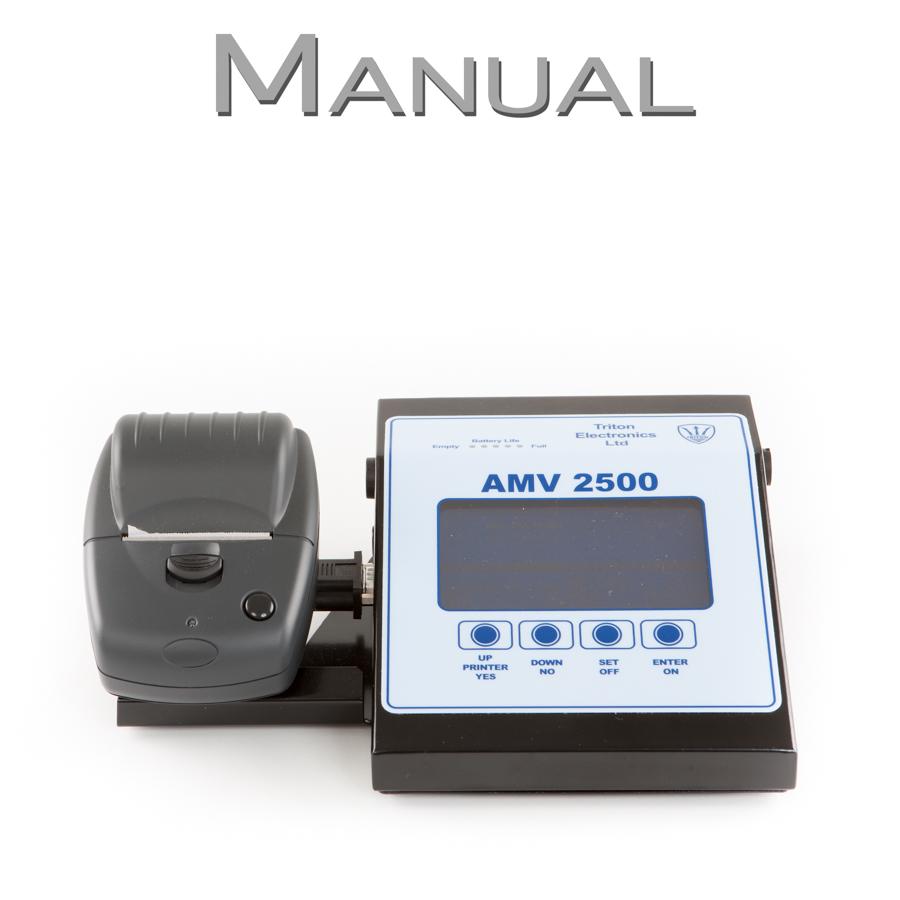 AMV 2500 Welding Monitor Manual