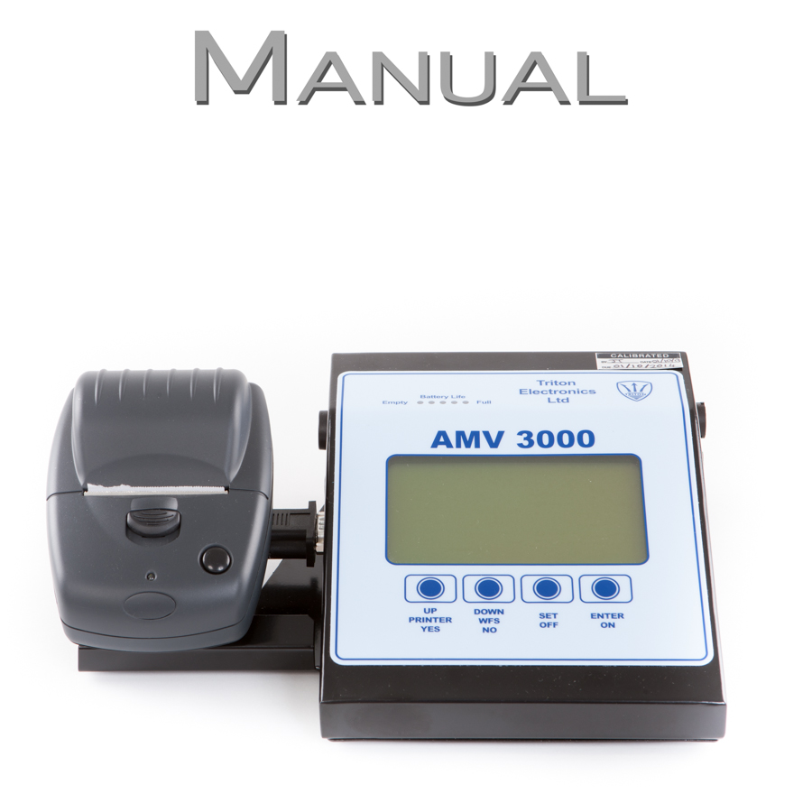 AMV 3000 Welding Monitor Manual